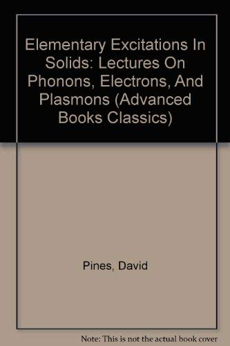 9780805379136: Elementary Excitations in Solids