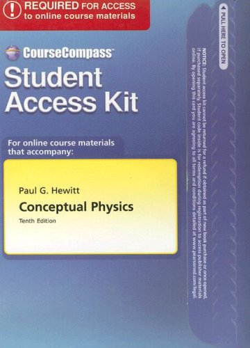 9780805384420: CourseCompass™ Student Access Kit for Conceptual Physics