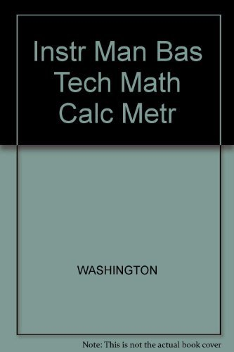9780805388930: Basic Technical Mathematics With Calculus