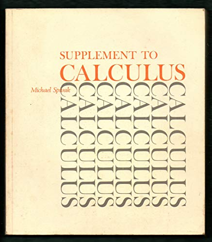 9780805390193: Supplement to Calculus
