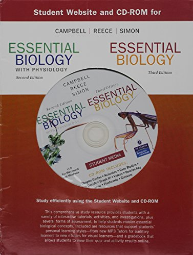 9780805394238: Student Website and CD-ROM for Essential Biology with Physiology Second Edition and Essential Biology Third Edition