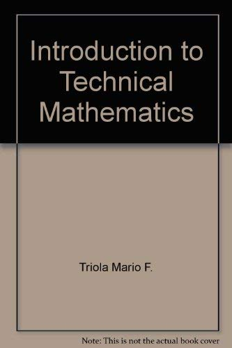 9780805395105: Introduction to Technical Mathematics