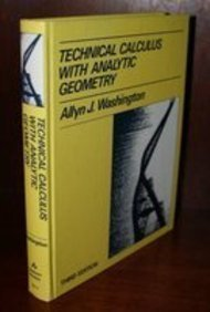 9780805395129: Technical Calculus with Analytic Geometry (3rd Edition)