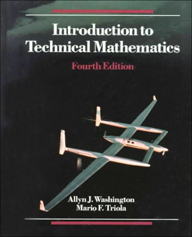 9780805395389: Introduction to Technical Mathematics (4th Edition)