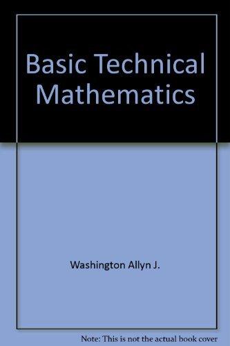 9780805395501: Basic technical mathematics