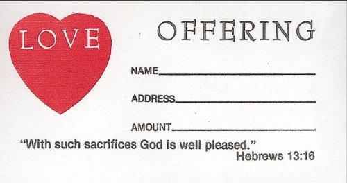 Love Offering Envelope 100pk