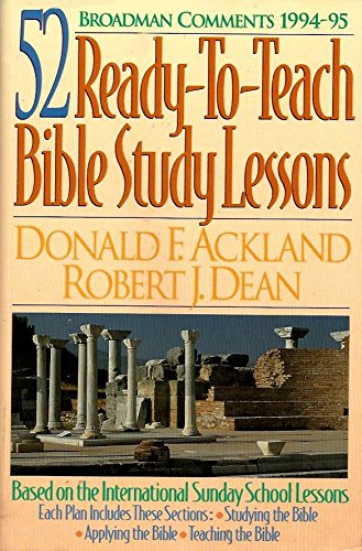 Broadman Comments, 1994-95: 52 Ready-To-Teach Bible Study Lessons: Donald F. Ackland