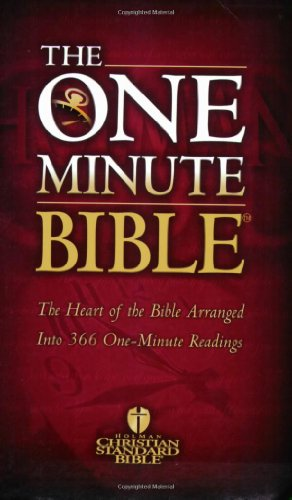 9780805428513: One Minute Bible-Hcsb: The Heart of the Bible Arranged Into 366 One-Minute Readings