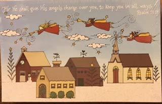 9780805435481: Psalms 91:11 Christmas Angels Postcards Set of 25