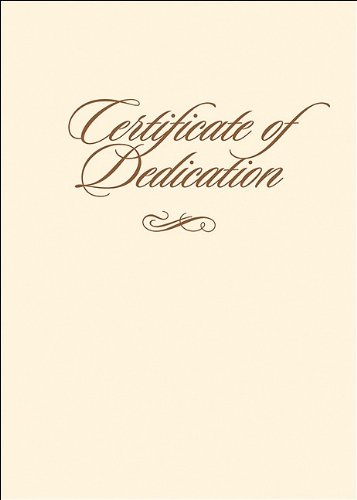 9780805438383: Certificate of Dedication with Envelope 6pk
