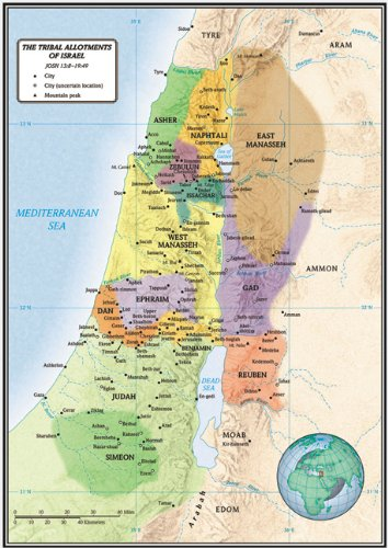 9780805439984: The Tribal Allotments of Israel Map