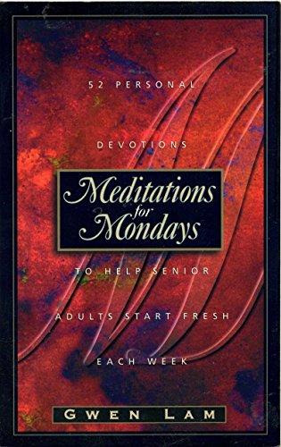 9780805453911: Meditations for Mondays: To Help Senior Adults Start Fresh Each Week
