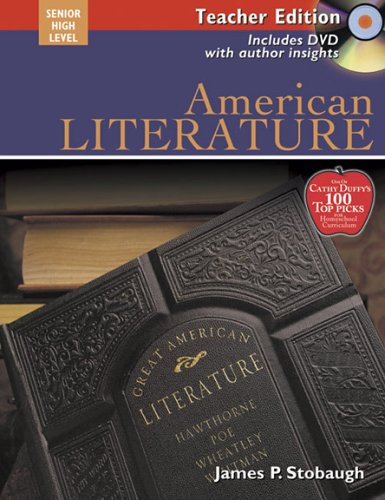 9780805458992: American Literature Teacher Text: Encouraging Thoughtful Christians to be World changers (Broadman & Holman Literature)