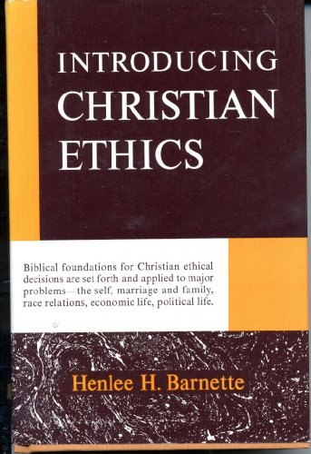 introducing christian ethics An introduction to christian ethics has 42 ratings and 4 reviews terri said: third book of four that was required reading for my ethics class and, for m.