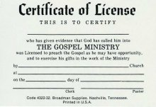 9780805472875: Certificate of License for Minister Billford Size
