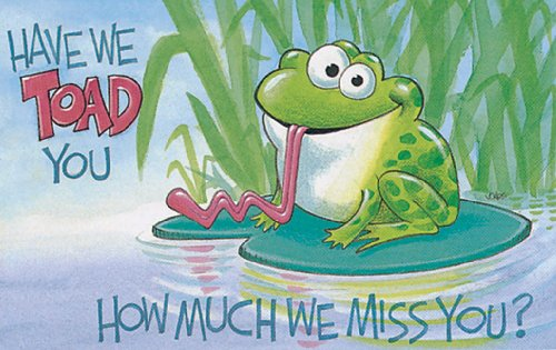 9780805475661: Toad-Have We Told You How Much We Miss You Postcards