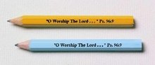 9780805476446: Pew Pencils: 3 1/2 Inches Long in Assorted Colors. Imprinted in Black with Oworship the Lord Psalm 96:9 Packages of 12 Dozen