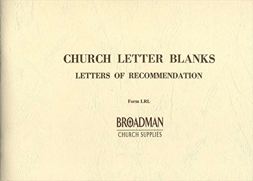 9780805480702: Letter of Recommendation Membership Record Forms: Each Book Contains 50 Perforated Sheets