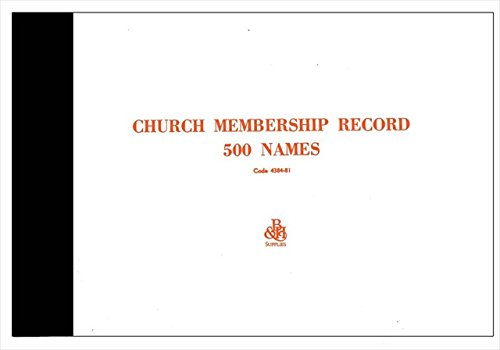 9780805480863: Church Membership Record: Package of 100 for Up to 500 Members