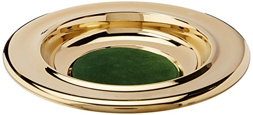 9780805485516: Offering Plate: Brass/Green: Stainless Steel