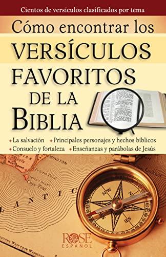 9780805495591: Como Encontrar Versiculos Favoritos de La Biblia (Coleccion Temas de Fe)