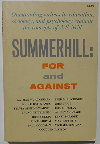9780805500592: Summerhill : For and Against
