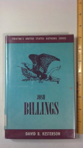 9780805700589: Josh Billings: Henry Wheeler Shaw (Twayne's United States authors series)