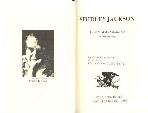 Shirley Jackson (Twayne's United States Authors Series ; Tusas 253): Lenemaja Friedman