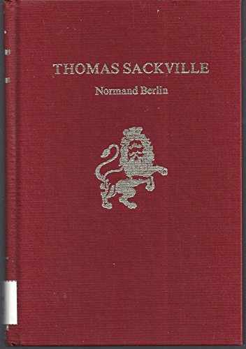 Thomas Sackville (Twayne's English authors series) (0805714715) by Berlin, Normand