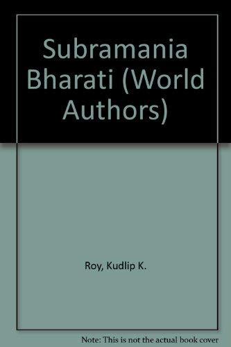 9780805721539: Subramania Bharati (World Authors)