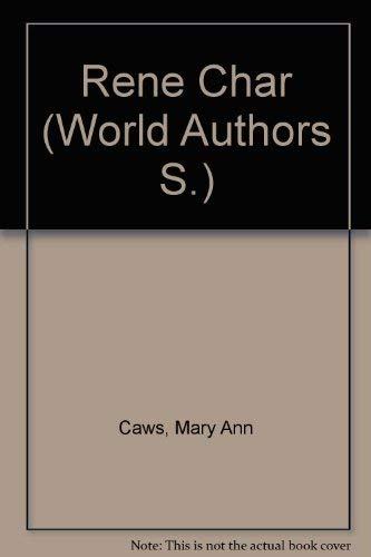 9780805762686: Rene Char (Twayne's World Authors Series : TWAS 428 : France)