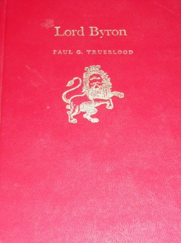9780805766943: Lord Byron (English Authors 203)