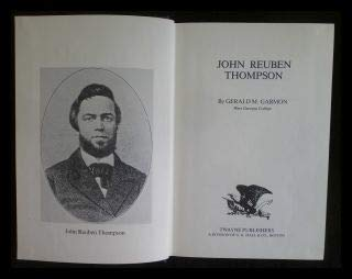 9780805772845: John Reuben Thompson (Twayne's United States authors series ; TUSAS 346)