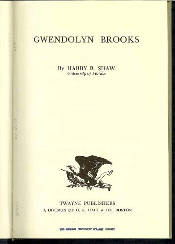 Gwendolyn Brooks (Twayne's United States Authors series) Tusas 395