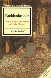 9780805785517: Buddenbrooks: Family Life as the Mirror of Social Change (Twayne's masterwork studies)