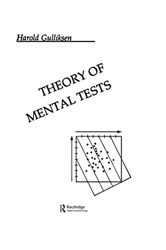 9780805800241: Theory of Mental Tests