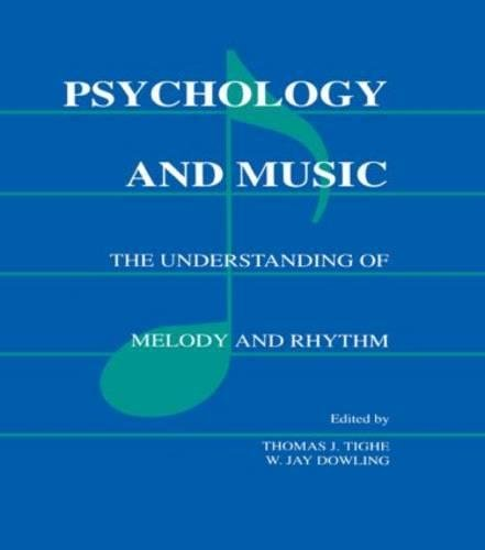 9780805801286: Psychology and Music: The Understanding of Melody and Rhythm