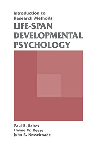9780805802351: Life-span Developmental Psychology: Introduction To Research Methods