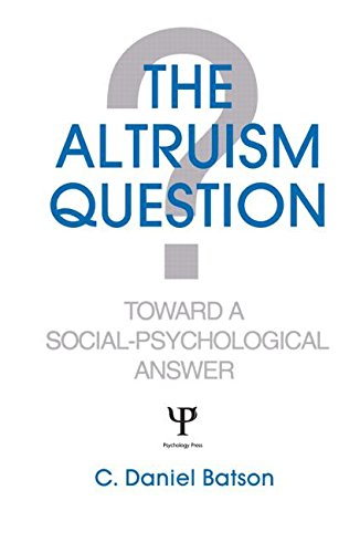 9780805802450: The Altruism Question: Toward A Social-psychological Answer