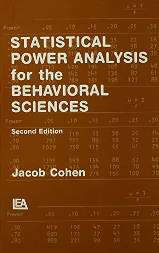 9780805802832: Statistical Power Analysis for the Behavioral Sciences (2nd Edition)