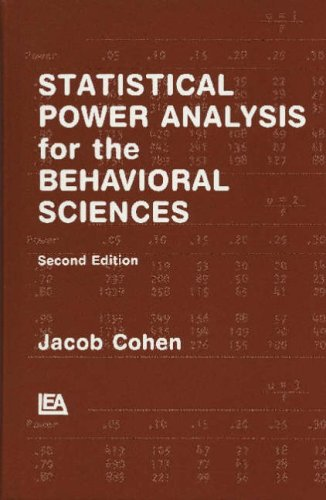 Statistical Power Analysis for the Behavioral Sciences,: Cohen, Jacob