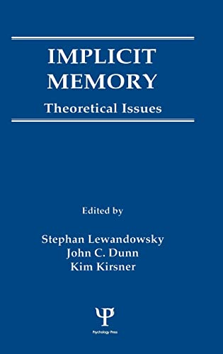 9780805803587: Implicit Memory: Theoretical Issues