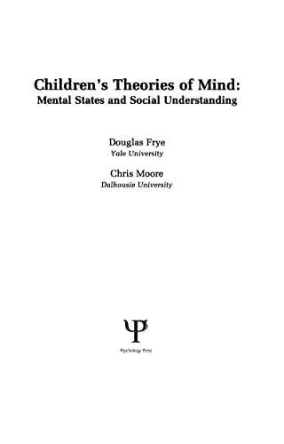 9780805804171: Children's Theories of Mind: Mental States and Social Understanding