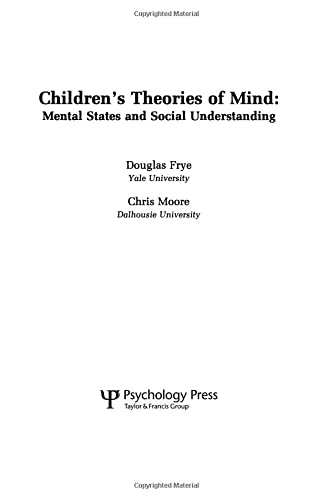 9780805804188: Children's Theories of Mind: Mental States and Social Understanding