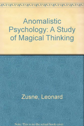 9780805805079: Anomalistic Psychology: A Study of Magical Thinking