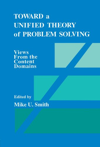 9780805805116: Toward a Unified Theory of Problem Solving: Views From the Content Domains
