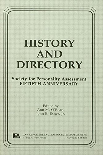 9780805805697: History and Directory: Society for Personality Assessment Fiftieth Anniversary (Separate Issue)