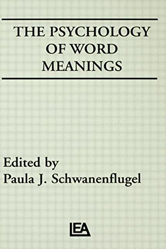 9780805806618: The Psychology of Word Meanings (Cog Studies Grp of the Inst for Behavioral Research at UGA)