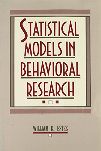 9780805806885: Statistical Models in Behavioral Research
