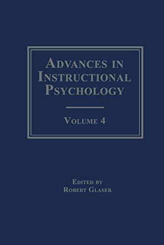 Advances in Instructional Psychology: Glaser, Ronald Ed.